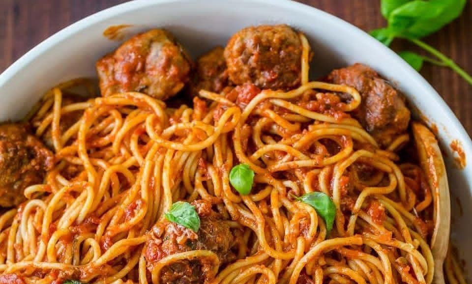 اسپاگتی با کوفته ریزه